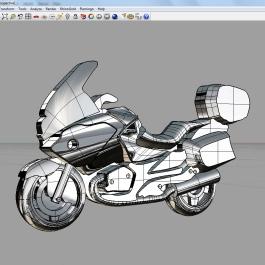 moottoripyörä koru